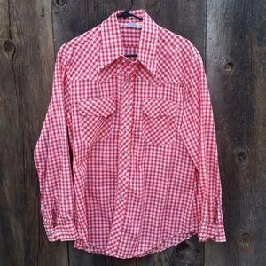 Vintage ArtVogue of California Gingham Shirt, sz L